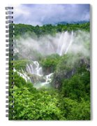 Falls Through The Fog - Plitvice Lakes National Park Croatia Spiral Notebook