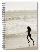 Family At Play On Beach Spiral Notebook