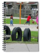 Family At Play Spiral Notebook