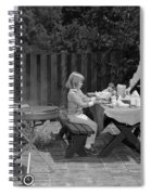 Family Bbq, C.1960s Spiral Notebook