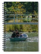 Family Boating If Forest Park Spiral Notebook