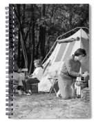 Family Camping, C.1970s Spiral Notebook