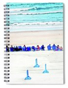 Family Day At Beach Spiral Notebook