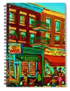 Family Frolic On St.viateur Street Spiral Notebook