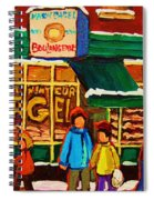 Family  Fun At St. Viateur Bagel Spiral Notebook