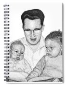 Family In Pointillism Spiral Notebook