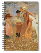 Family Group With Cow Spiral Notebook