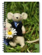 Family Mouse On The Spring Meadow .1. Spiral Notebook