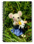 Family Mouse On The Spring Meadow Spiral Notebook