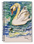 Family Of Swanns  Spiral Notebook