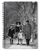 Family Out Walking On A Wintry Day Spiral Notebook