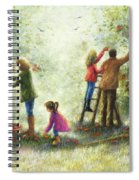 Family Picking Apples Spiral Notebook