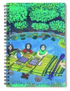 Family Picnic In Palau Spiral Notebook