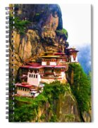 Famous Tigers Nest Monastery Of Bhutan 11 Spiral Notebook