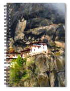 Famous Tigers Nest Monastery Of Bhutan 3 Spiral Notebook