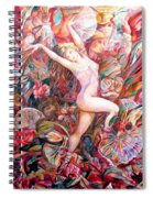 Fan Dance Unveiled Spiral Notebook