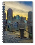 Fan Pier Boston Harbor Spiral Notebook