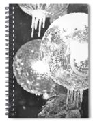 Faneuil Hall Lollypop Light Icicles Boston Ma Black And White Spiral Notebook