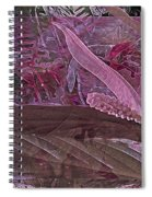 Fantasy African Violets And Peace Lily Pink, Red And Pink Spiral Notebook
