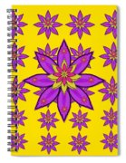 Fantasy Big Flowers In The Happy Jungle Of Love Spiral Notebook