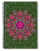Fantasy Floral Wreath In The Green Summer  Leaves Spiral Notebook