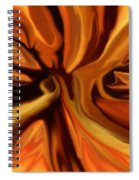 Fantasy In Orange Spiral Notebook