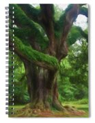 Fantasy Oak Spiral Notebook