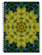 Fantasy Plumeria Decorative Real And Mandala Spiral Notebook