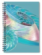 Fantasy Seashells Entwined Spiral Notebook
