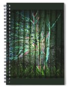 Fantasy Tree On Bamboo Spiral Notebook