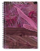 Fantasy With African Violets And Peace Lily 7 Spiral Notebook