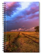 Far And Away - Open Prairie Under Colorful Sky In Oklahoma Panhandle Spiral Notebook