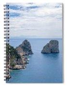 Faraglioni Rocks Spiral Notebook