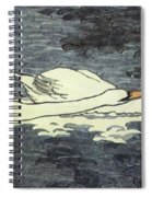 Farbiger Holzschnitt Zwei Schw Ne 1902 Spiral Notebook
