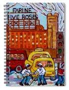 Farine Five Roses Montreal 375 Hometown Hockey Hotel Bonaventure Tour Bus Canadian Art C Spandau Art Spiral Notebook