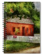 Farm - Barn - A Small Farm House  Spiral Notebook