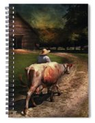 Farm - Cow - Going To Milk Mabel Spiral Notebook