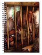 Farm - Cow - Milking Mabel Spiral Notebook