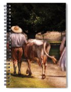 Farm - Cow - Time For Milking  Spiral Notebook