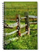 Farm - Fence - The Old Fence Post  Spiral Notebook