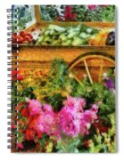 Farm - Food - At The Farmers Market Spiral Notebook