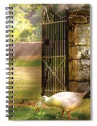 Farm - Geese -  Birds Of A Feather Spiral Notebook