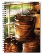 Farm - Pail - A Pile Of Pails Spiral Notebook