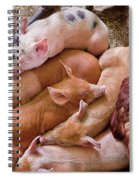 Farm - Pig - Five Little Piggies And A Chicken  Spiral Notebook
