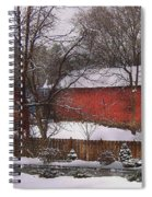 Farm - Barn - Winter In The Country  Spiral Notebook