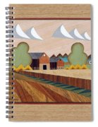 Farm By Ripon-marquetry Spiral Notebook