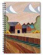 Farm By Ripon -marquetry-image Spiral Notebook