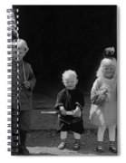 Farm Children And Flag Spiral Notebook
