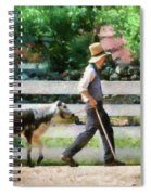 Farm - Cow -the Farmer And The Dell  Spiral Notebook