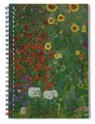 Farm Garden With Flowers Spiral Notebook